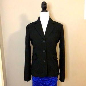 Jacob XS, 3 buttons, black jacket.